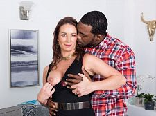 Ass-fucked by a bigger than typical, black cock